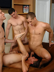 Brandon Lewis, Wade Holder, Tucker Vaughn and Ryan F gay orgy