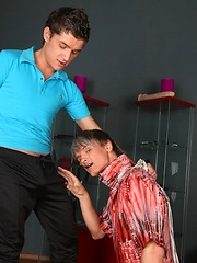 Whips and spatulas get used in delicious gay spanking scene