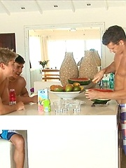 Dolph Lambert, Dario Dolce and Jean-Daniel Chagall hot jocks threesome