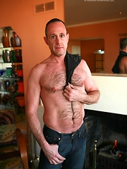 Josh Kole shows his mature muscled body and playing with his cock