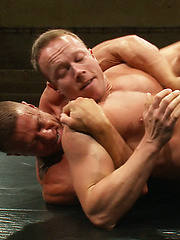 Huge dicked Tyler Saint takes on a young muscle stud. Skill and experience versus youth and endurance. Someone\\\'s getting their ass pounded either way.