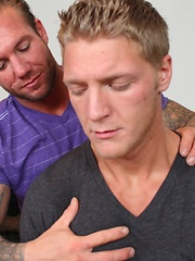 Dirty masseur having fun with an oiled up guy