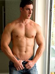 Cute gay man sucking off straight man cock