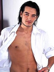 Hot boy Carlos Morales plays with his cock