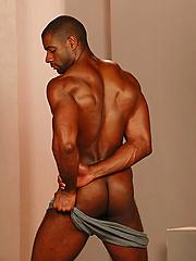 Adam Dexter shows his big black cock