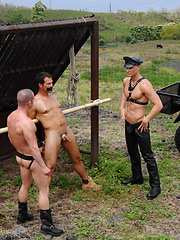 Jason Ridge, Alex Chandler and Toby O'Connor fucking outdoors