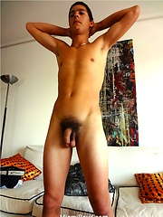 Hot uncut latin boy Javier jacking off
