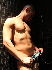Hitting the Showers with my Hung Mate Daniel Carrera