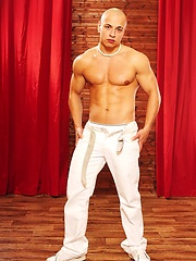 Bald muscle boy naked