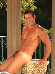 Kristian Alvarez shows his perfect ripped body nad muscled cock outdoors