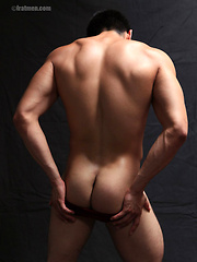 Eddie posing again and shows his fat uncut cock