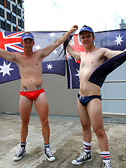 Aussie boys Ryan and Brent naked on the roof
