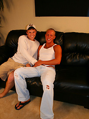 Hot amateur studs Denny and Riley
