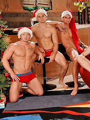 Johnny Torque, James Jamesson, Tyler Torro, Anthony Romero, James Huntsman and Brody Wilder xmas orgy