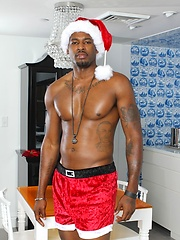 Black muscled Santa Flash