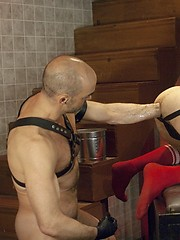 Nick Forte and Diablo Fox in gay ass fisting scene