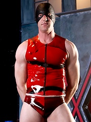 Nick Forte: Man wearing mask and latex