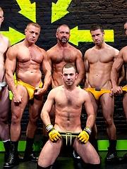 Gay muscle orgy. Alexsander Freitas, Josh West, Tristan Jaxx, Tyler Saint, Blake Daniels and Parker Perry