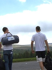 Luke and Brez (his straight mate from work) are off on their camping trip in the wilds of Dartmoor. They pitch their tent over a couple of beers and decide to take a nap - but Luke\\\'s got a thing for straight cock and begins his game.