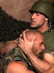 Muscled soldiers Samuel Colt and Spencer Reed fucking