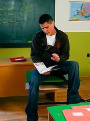 Danko Bell stripping in a class room