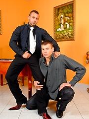 James Jones and Renato Bellagio stripping