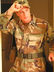Military czech jacking off