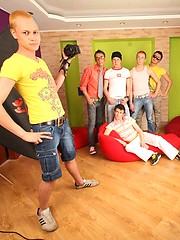 Six friends got stood up by ladies so they have a hot gay party