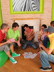 Twink party with six delicious friends that love fucking hard