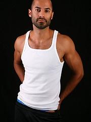 Erik posing naked and strokes