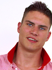 Str8 Blue Eyed Hunk Josh lets Jason be the first man to Suck his Cock