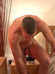 Stud plays with his cock