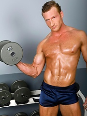 Danny Harper shows muscled body and cock