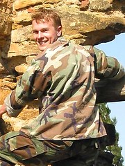 Czech soldier stripping
