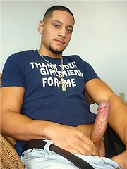 Sexy latino stud plays with his big cock