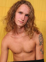 Long hair twink jacking off
