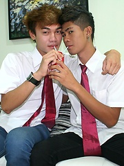 Two hot Asian boys get an education is sex.