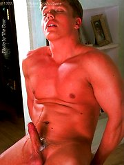 Hot 90s beefy stud Gyorgy Toth shows his rock hard cock