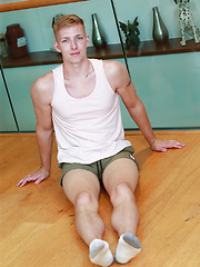 Tall & Muscular Young Blond Pup Christian