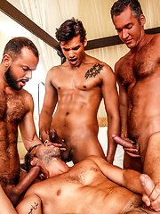 Marco Antonio and Sir Peter lead a five-man fuck