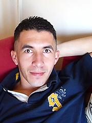 Latino mature man jacking off his big cock