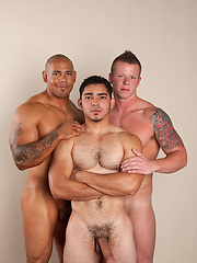 Justin Jameson, Juan Steel and Miguel Temon goes threesome