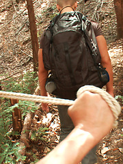 Straight stud Logan Vaughn is captured in the deep woods and edged for days.