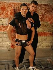 Mirek and Lukas. Slave fucked.