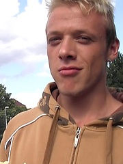 Czech Hunter 52. Blond czech boy gets facial.