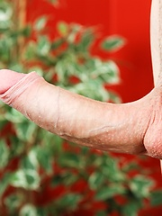 Dominic Harvey strokes his uncut cock