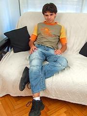 Latin boy Rodrigo plays wihth dick