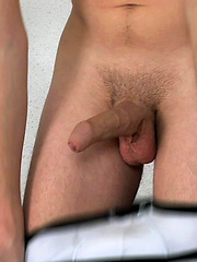 Yves shows his uncut dick