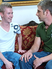 Horny boys Bradley Michaels and Micah Matthews in gay anal sex scene