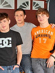 Three orny twinks Noah Brooks, Trevor Knox and JD Evans fucking